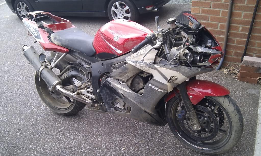 Yamaha R6 Crashed